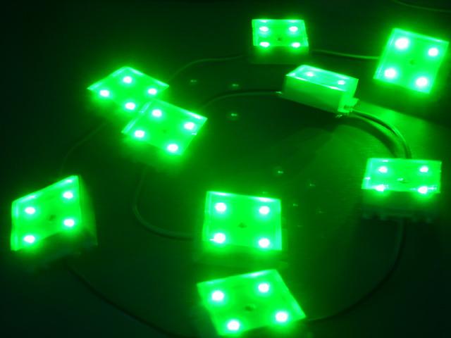 Светодиодная матрица DLBS-10x4 LED 12V green (блок)